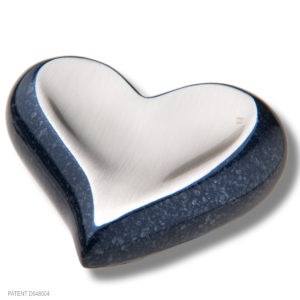 Speckled Indigo Metal Heart